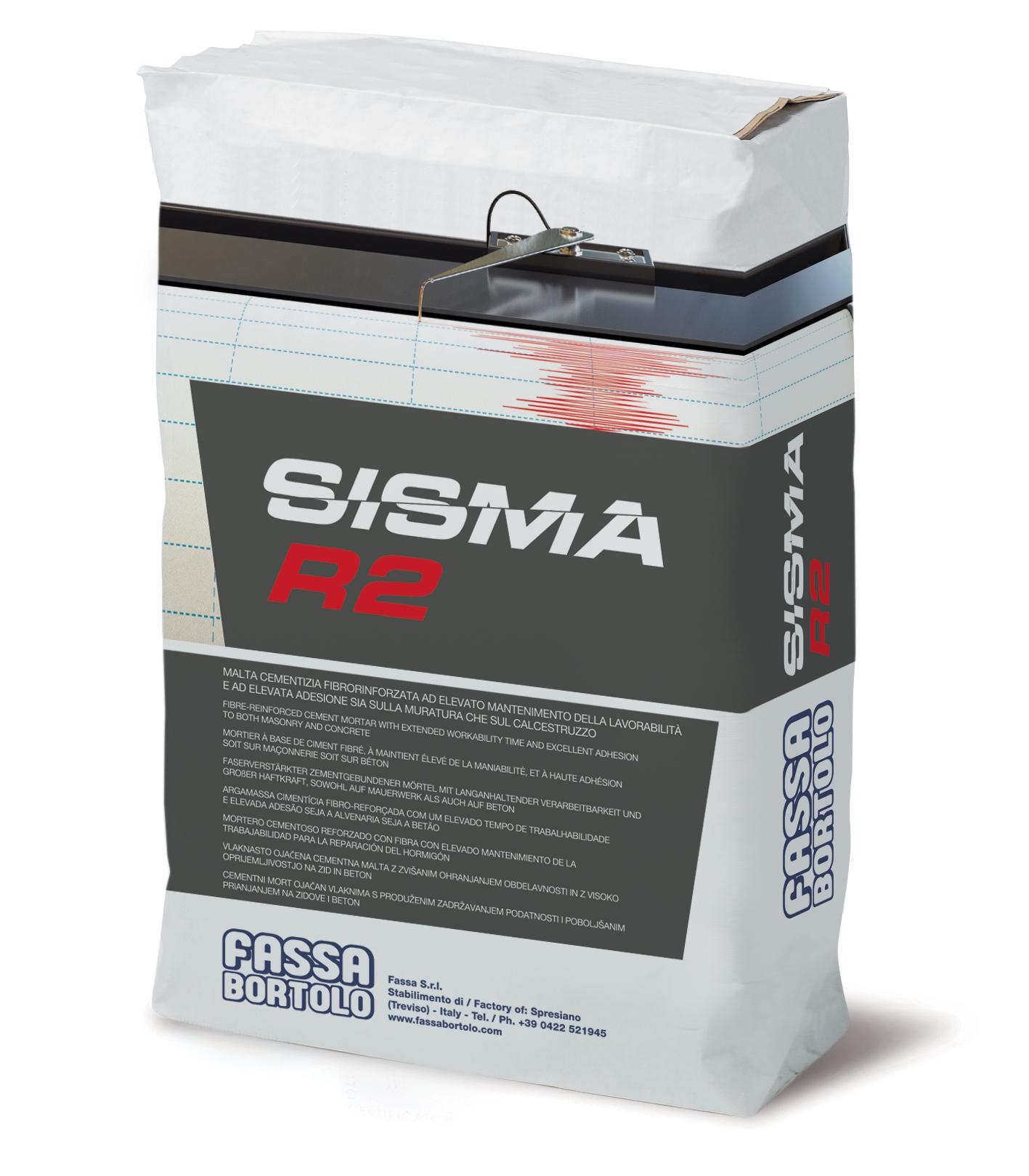 SISMA R2: Malta cementizia monocomponente polimero-modificata e fibrorinforzata ad elevata adesione specifica come matrice inorganica per sistemi FRCM