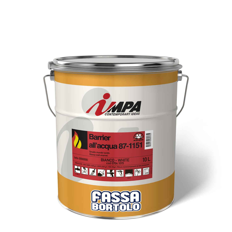 BARRIER 87-1151: Pittura intumescente idrodiluibile