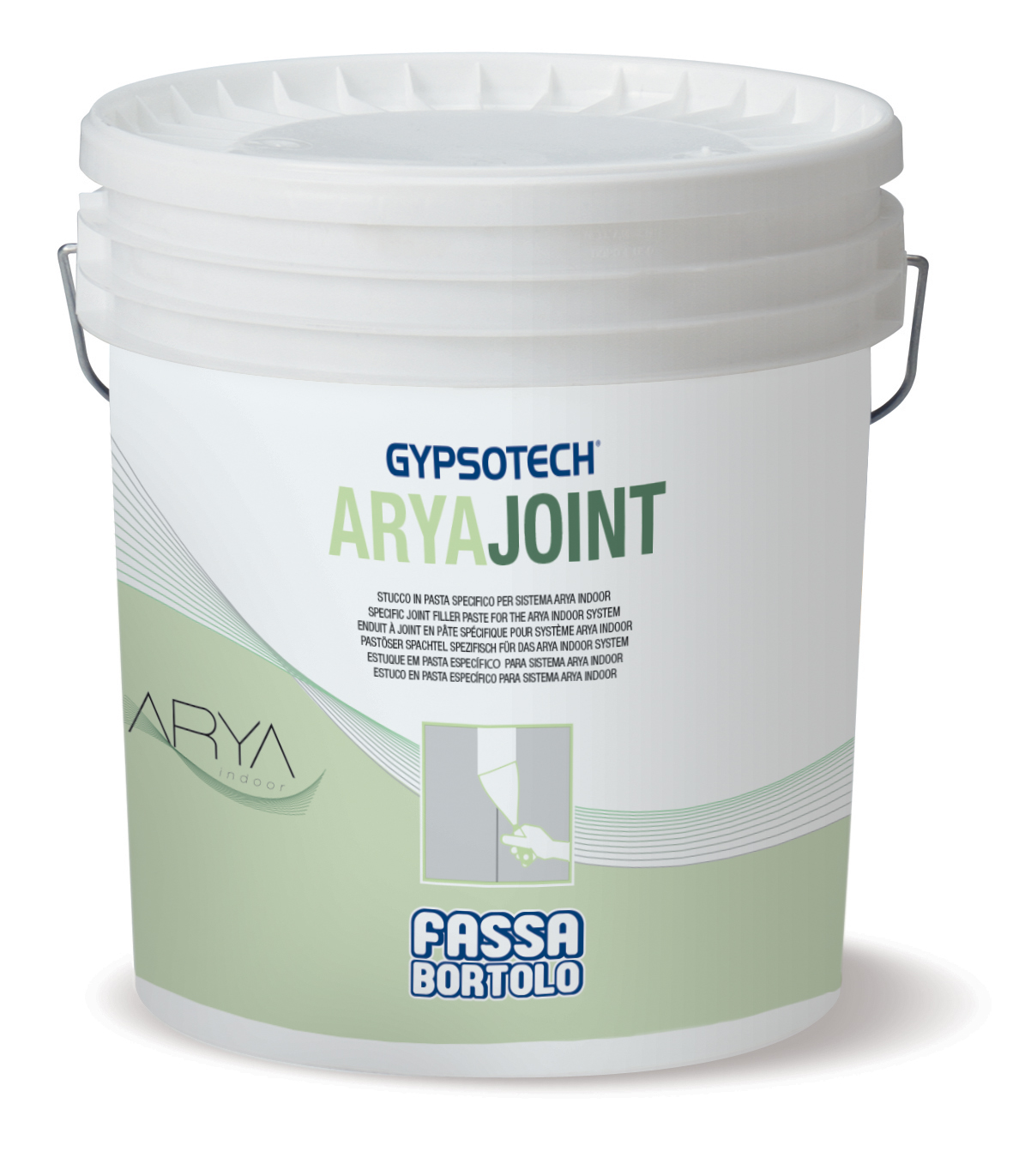 ARYAJOINT: Stucco in pasta specifico per sistema ARYAindoor