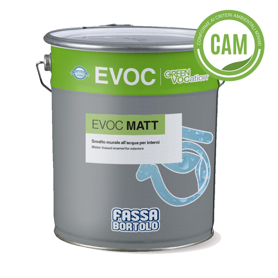 EVOC MATT: Smalto murale all'acqua opaco per interni