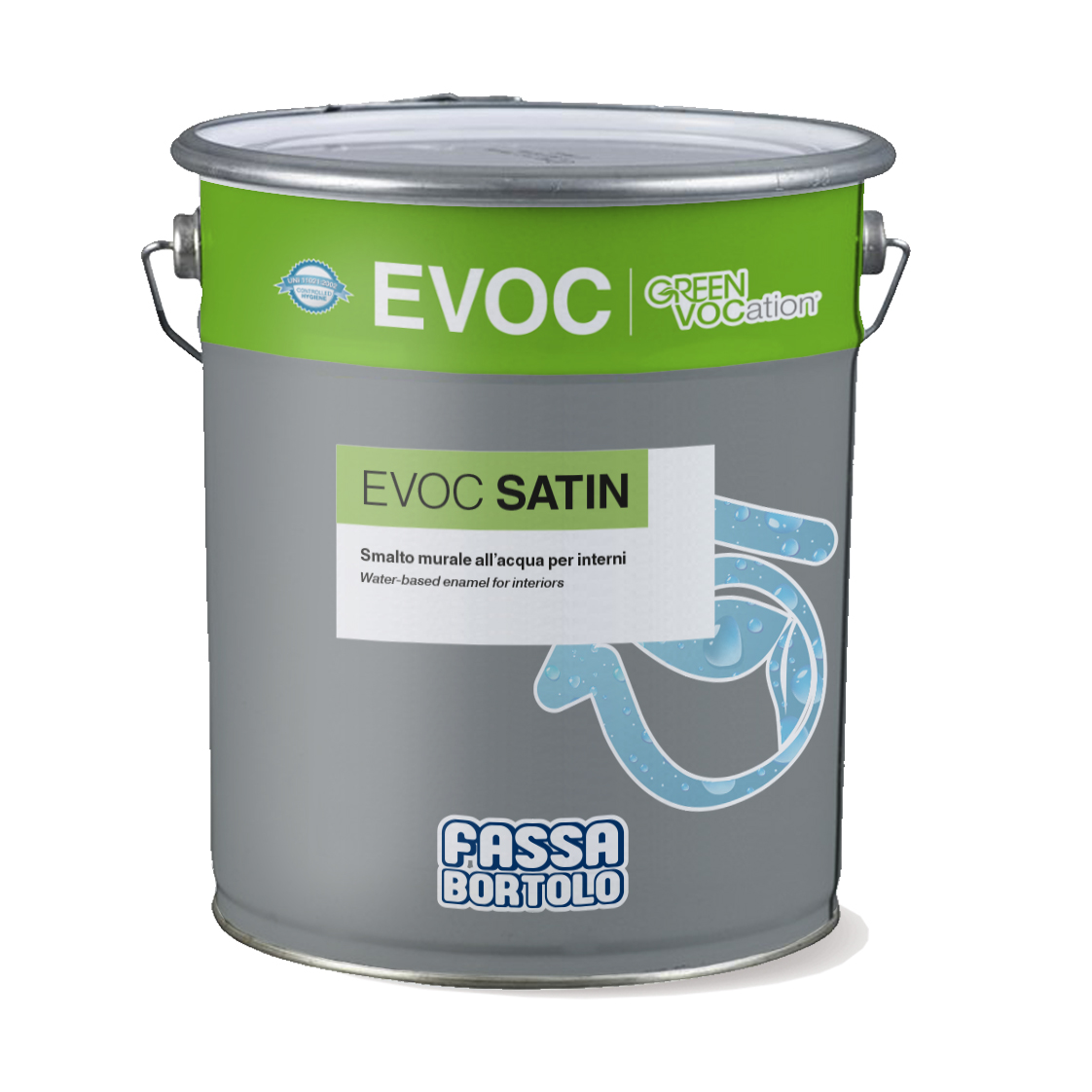 EVOC SATIN: Smalto murale all'acqua satinato per interni