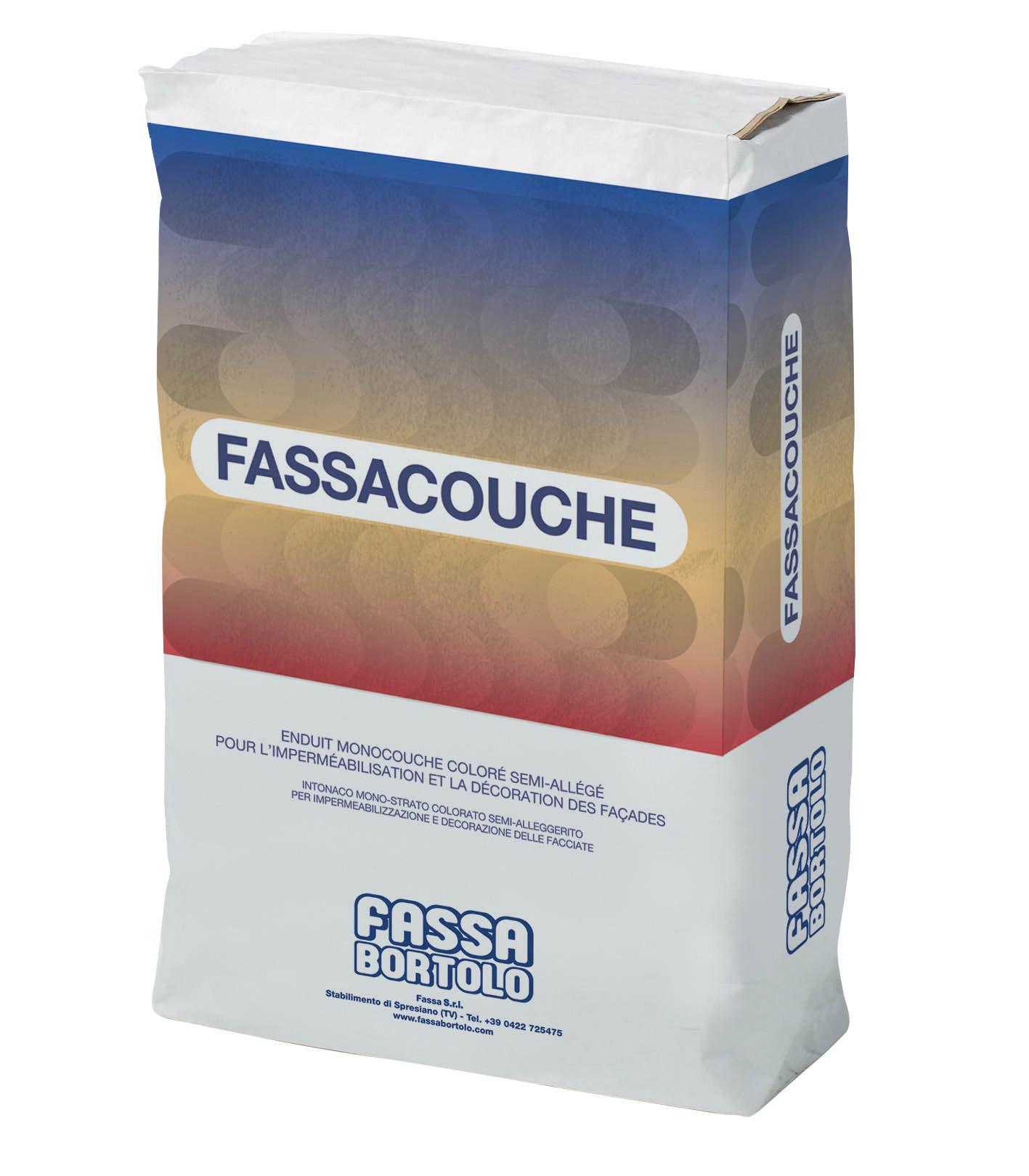 FASSACOUCHE: Intonaco monostrato colorato semi-alleggerito per la protezione e la decorazione delle facciate