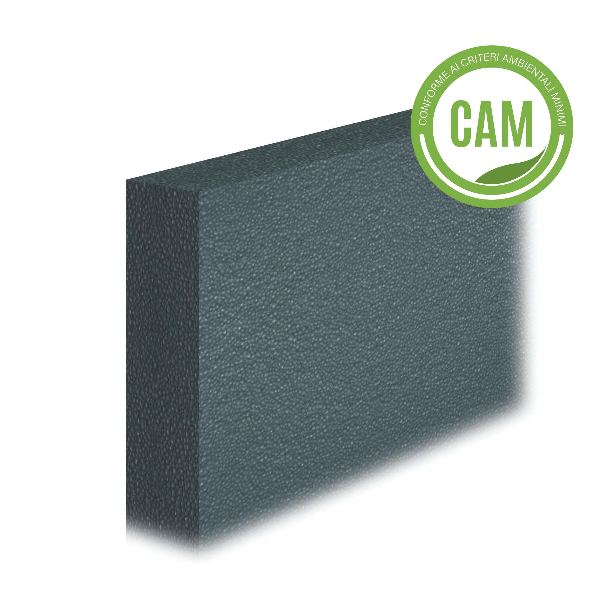 LASTRA ISOLANTE IN EPS GRAFITE 030: Lastra isolante in EPS additivato con grafite, con conducibilità termica 0.030 W/(m·K).Conforme ai CAM