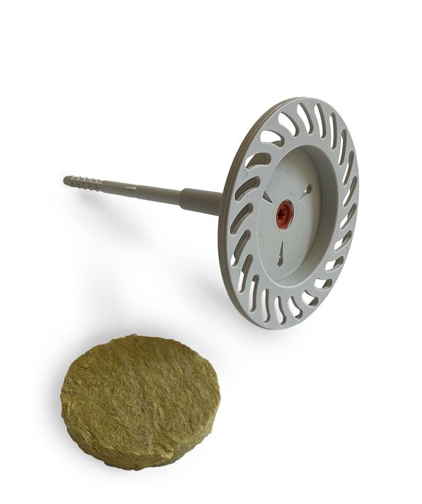 FASSA MINERAL FIRE FIX: Tassello ad avvitamento con vite in acciaio per il fissaggio delle lastre isolanti in lana di roccia nei sistemi a cappotto