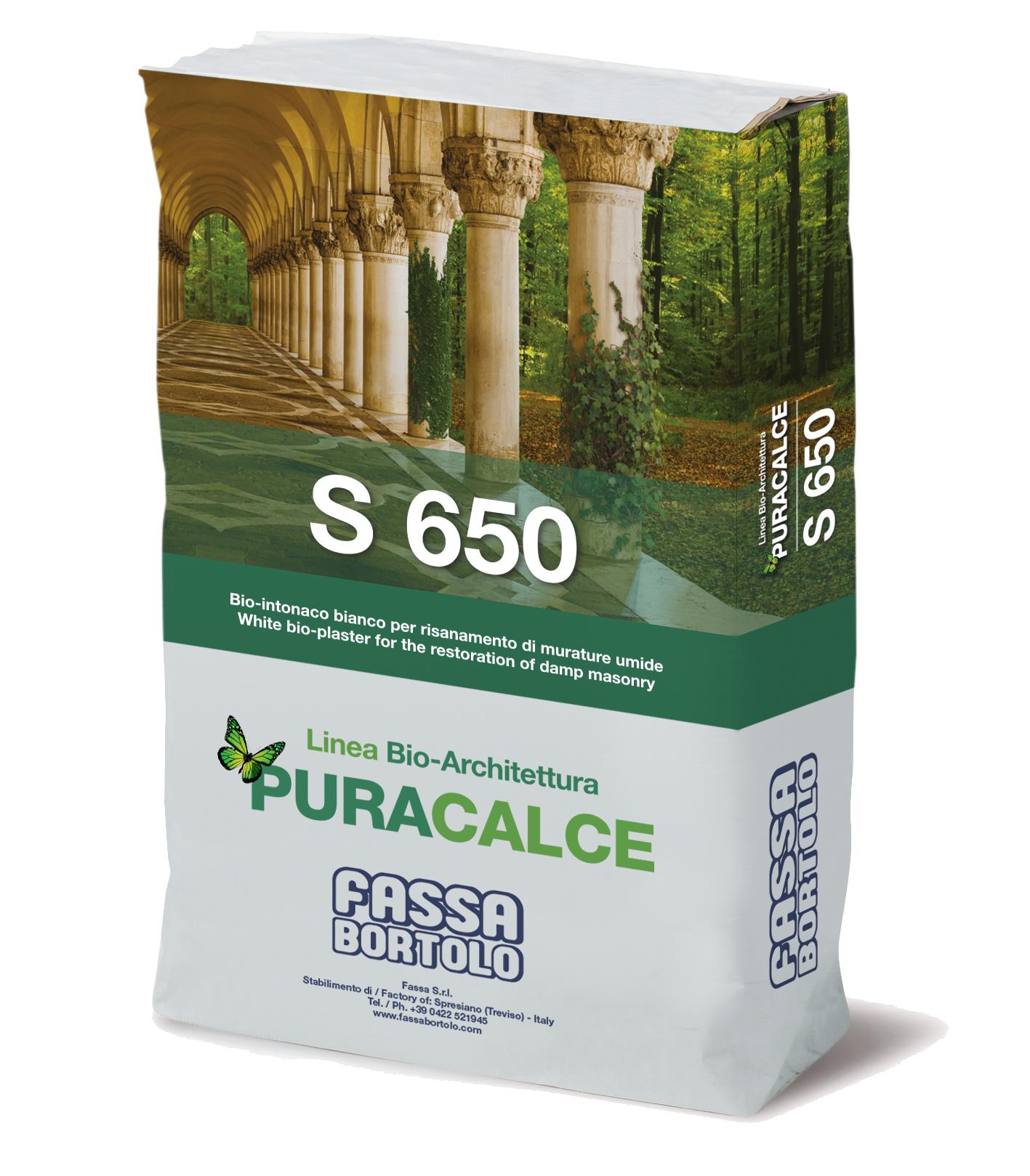 S 650: Bio-rinzaffo bianco per il risanamento di murature umide per interni ed esterni