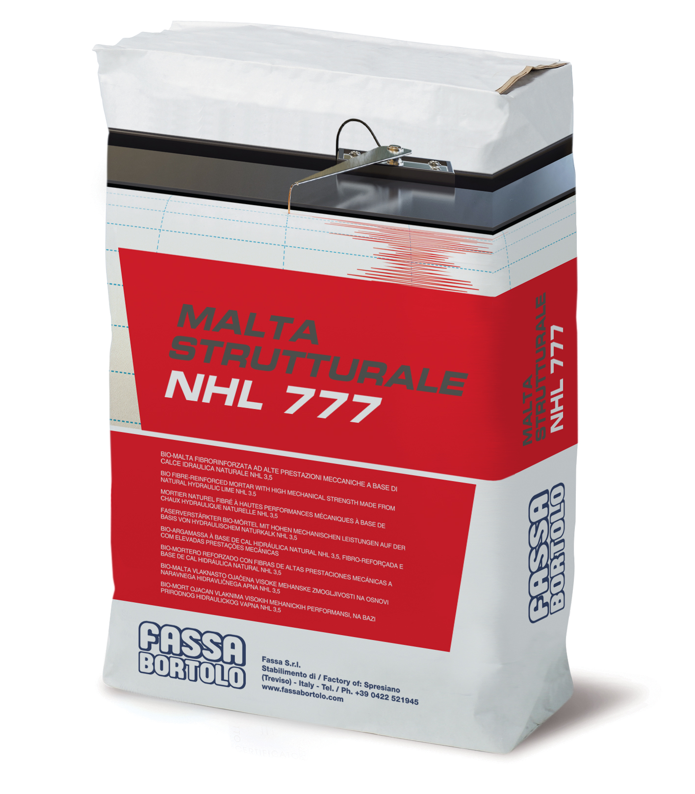 MALTA STRUTTURALE NHL 777: Bio-malta fibrorinforzata strutturale a base di calce idraulica naturale NHL 3,5 per interni ed esterni