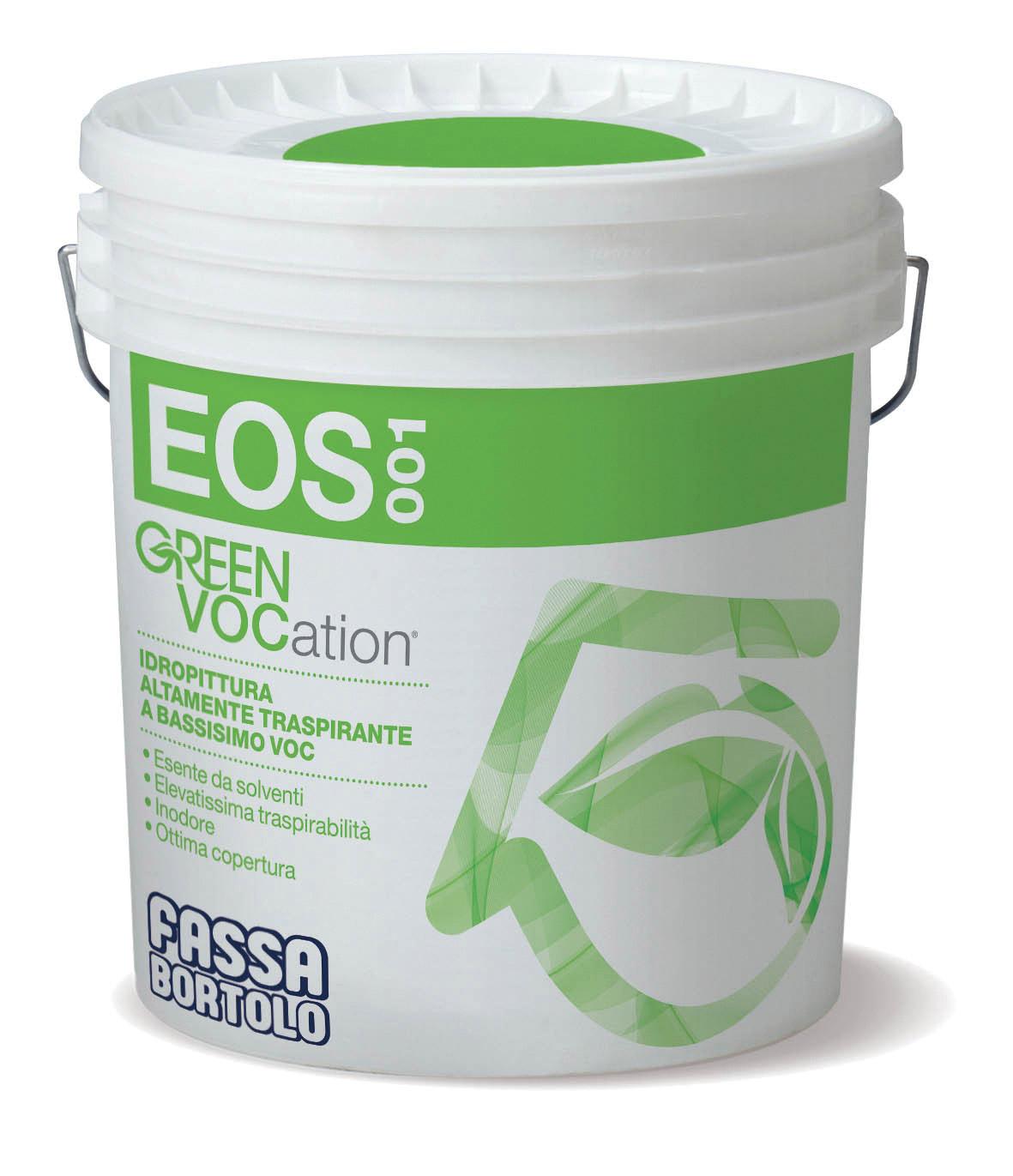 EOS 001: Idropittura altamente traspirante per interno a bassissimo VOC
