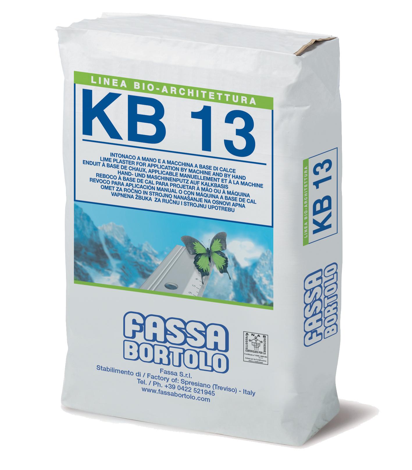 KB 13: Bio-intonaco di fondo a base di calce, ad effetto marmorino, per interni ed esterni