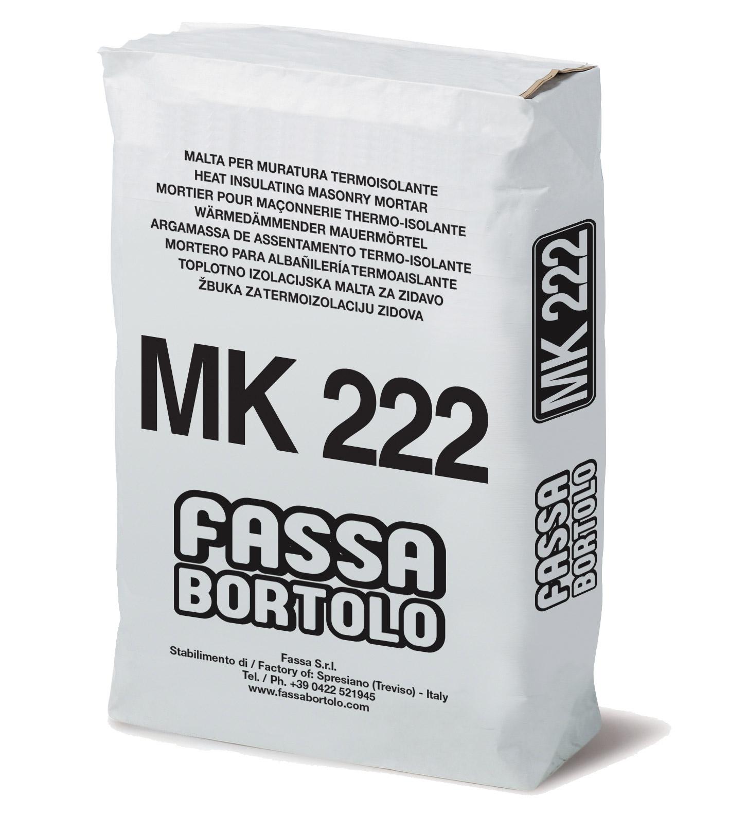 MK 222: Malta cementizia per muratura termoisolante