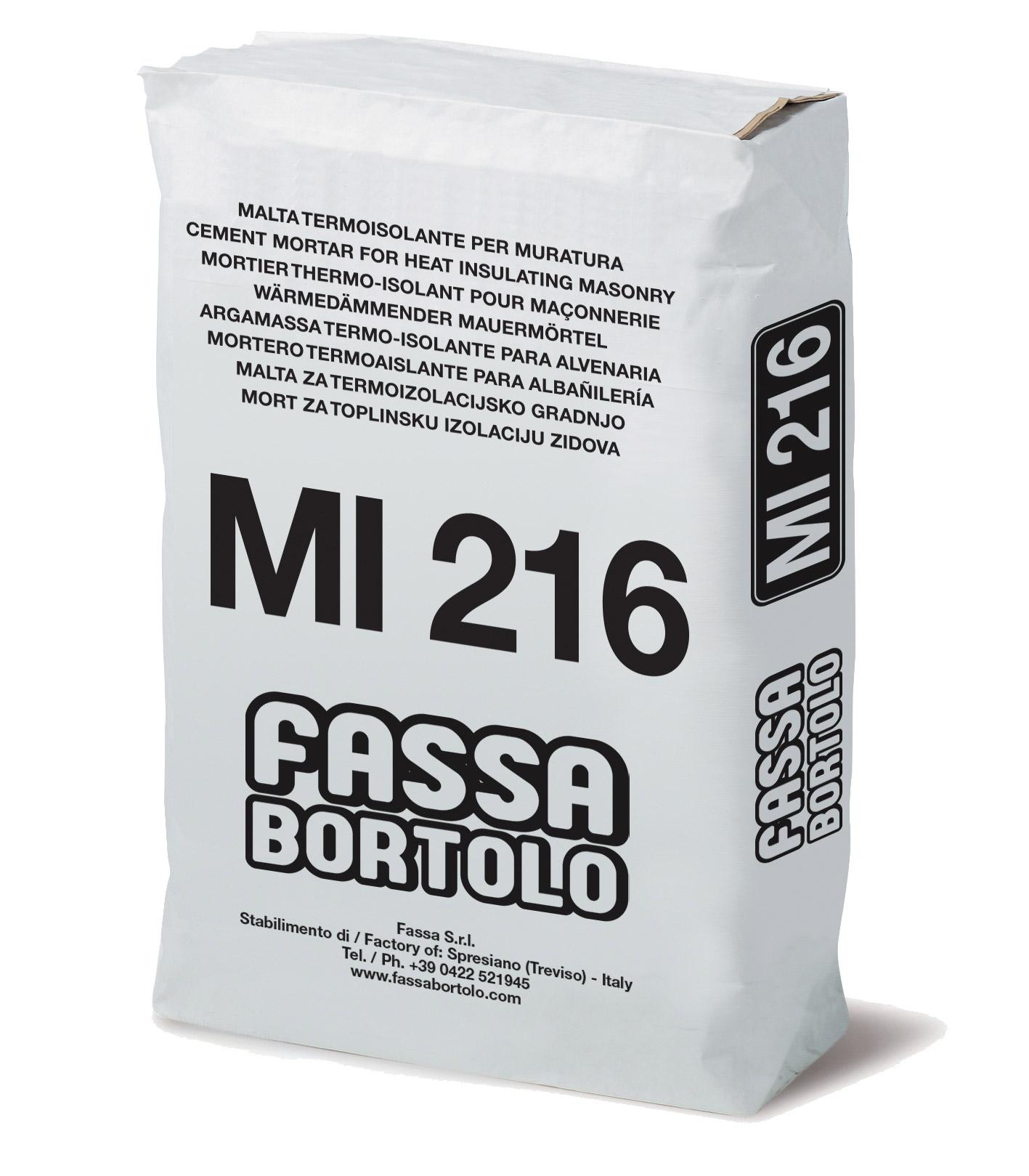 MI 216: Malta cementizia per muratura termoisolante