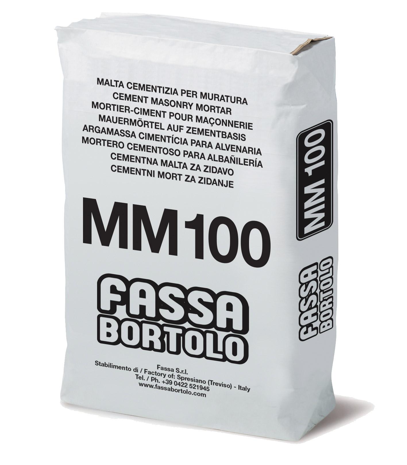 MM 100: Malta cementizia per muratura