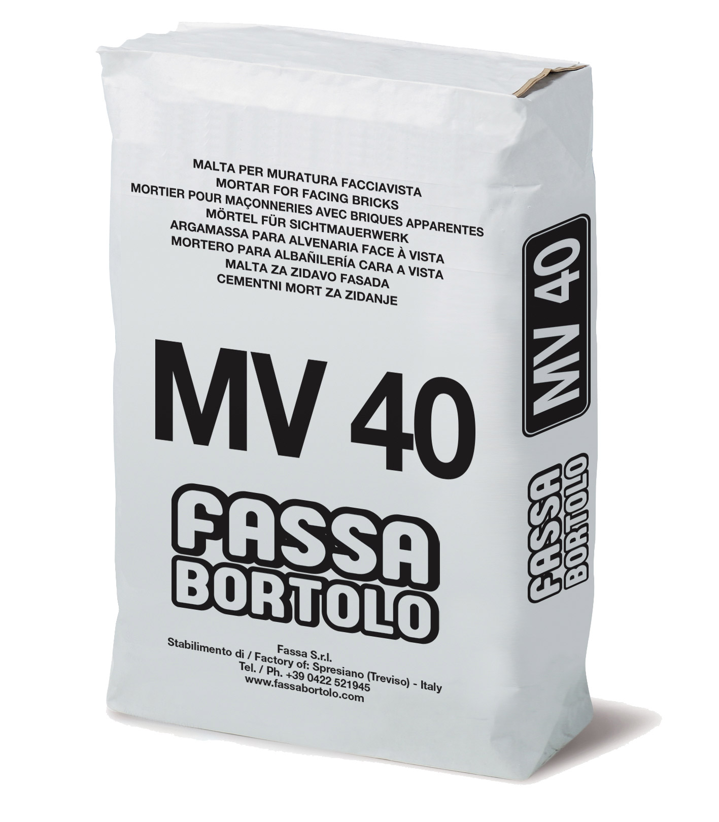 MV 40: Malta per muratura faccia a vista a base di calce e cemento per interni ed esterni