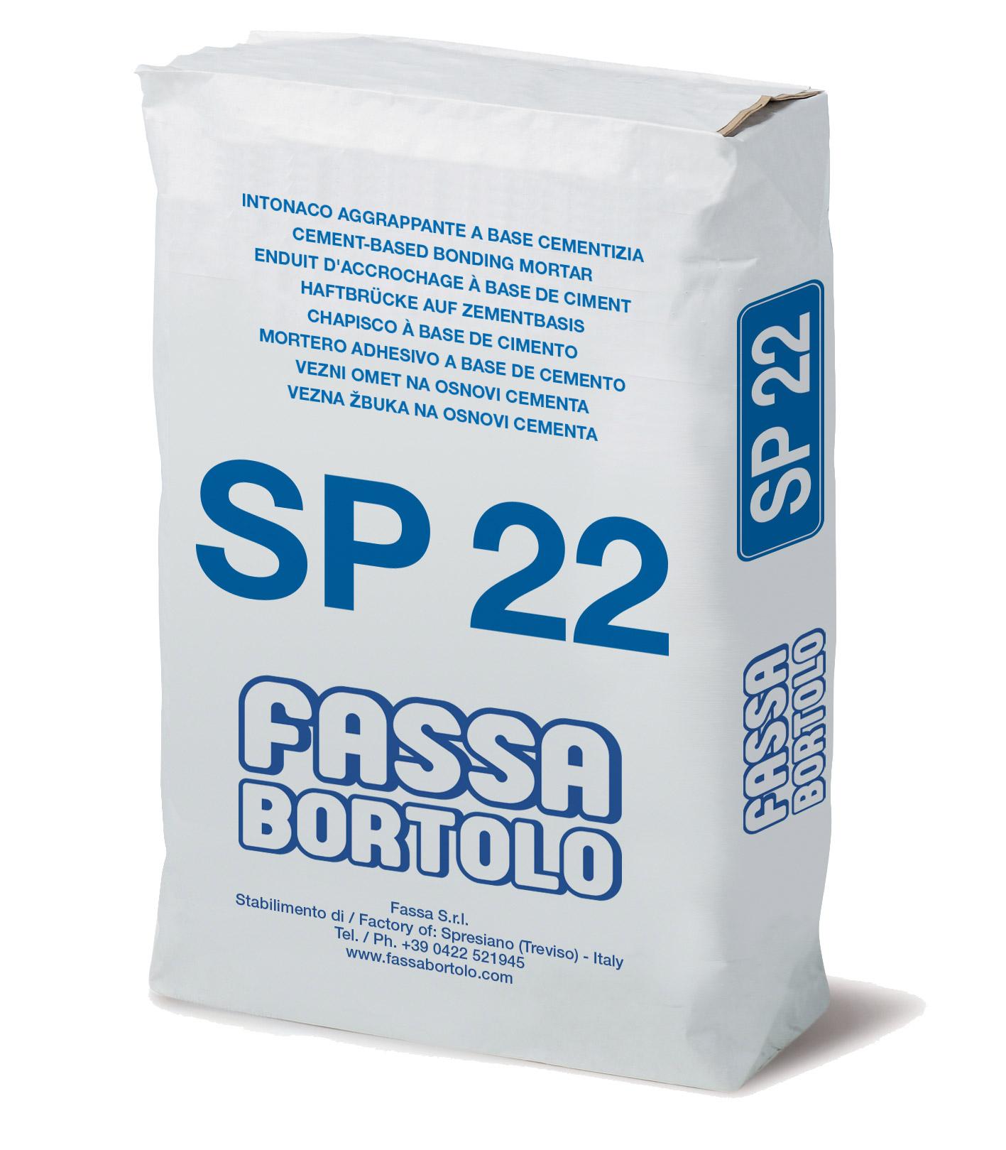 SP 22: Rinzaffo a base cementizia per superfici in calcestruzzo, ad elevate prestazioni, per esterni e interni