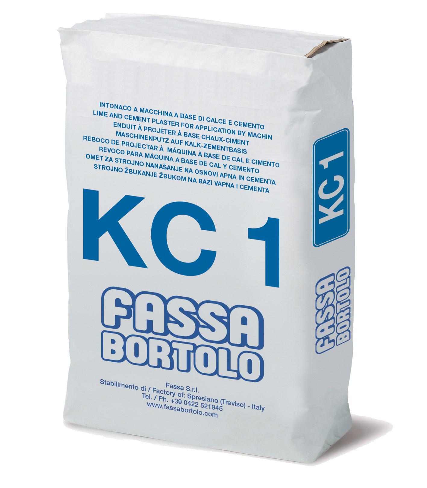 KC 1: Intonaco di fondo a base di calce e cemento, per esterni ed interni