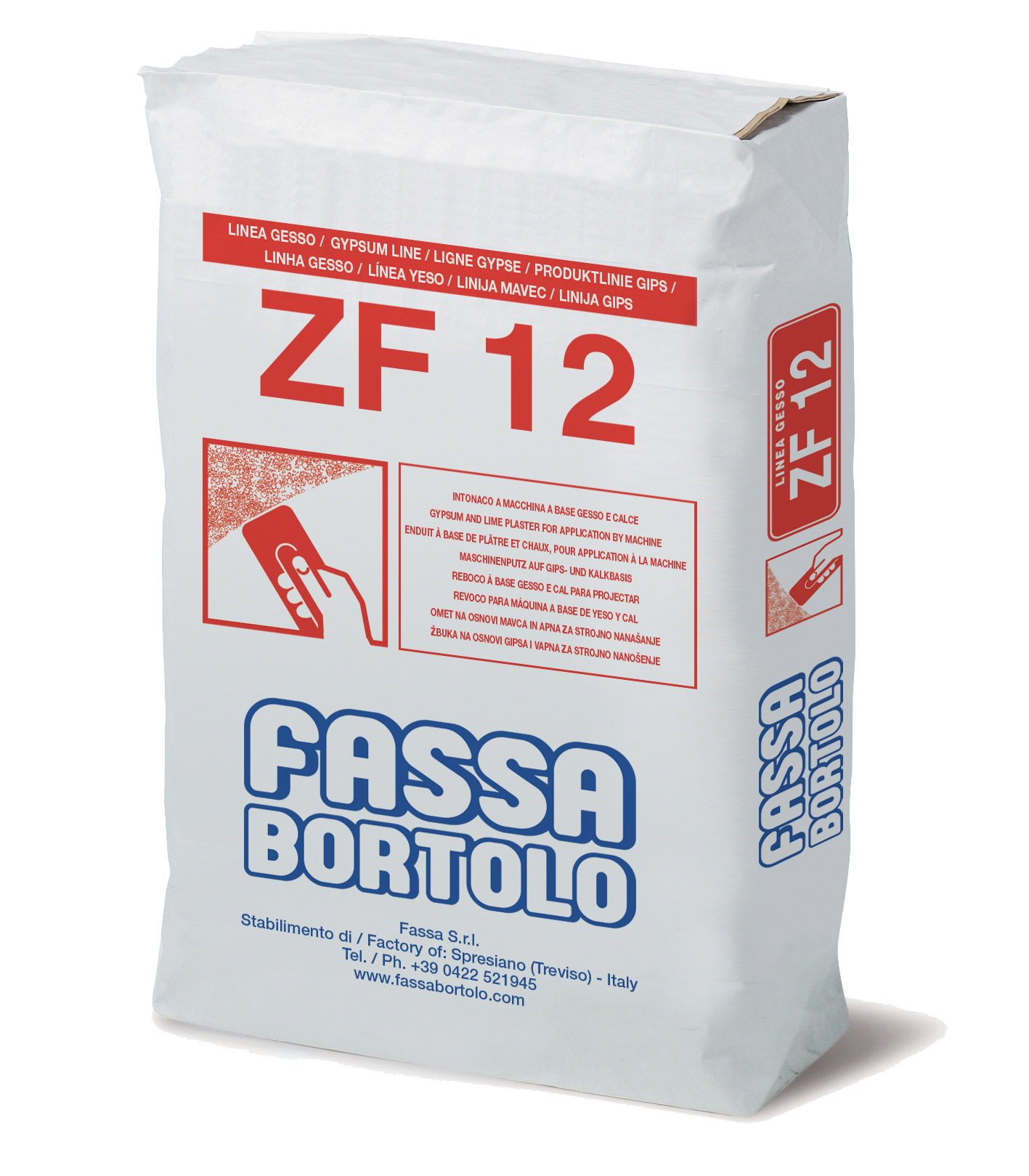 ZF 12: Intonaco di fondo a base di gesso e calce per interni