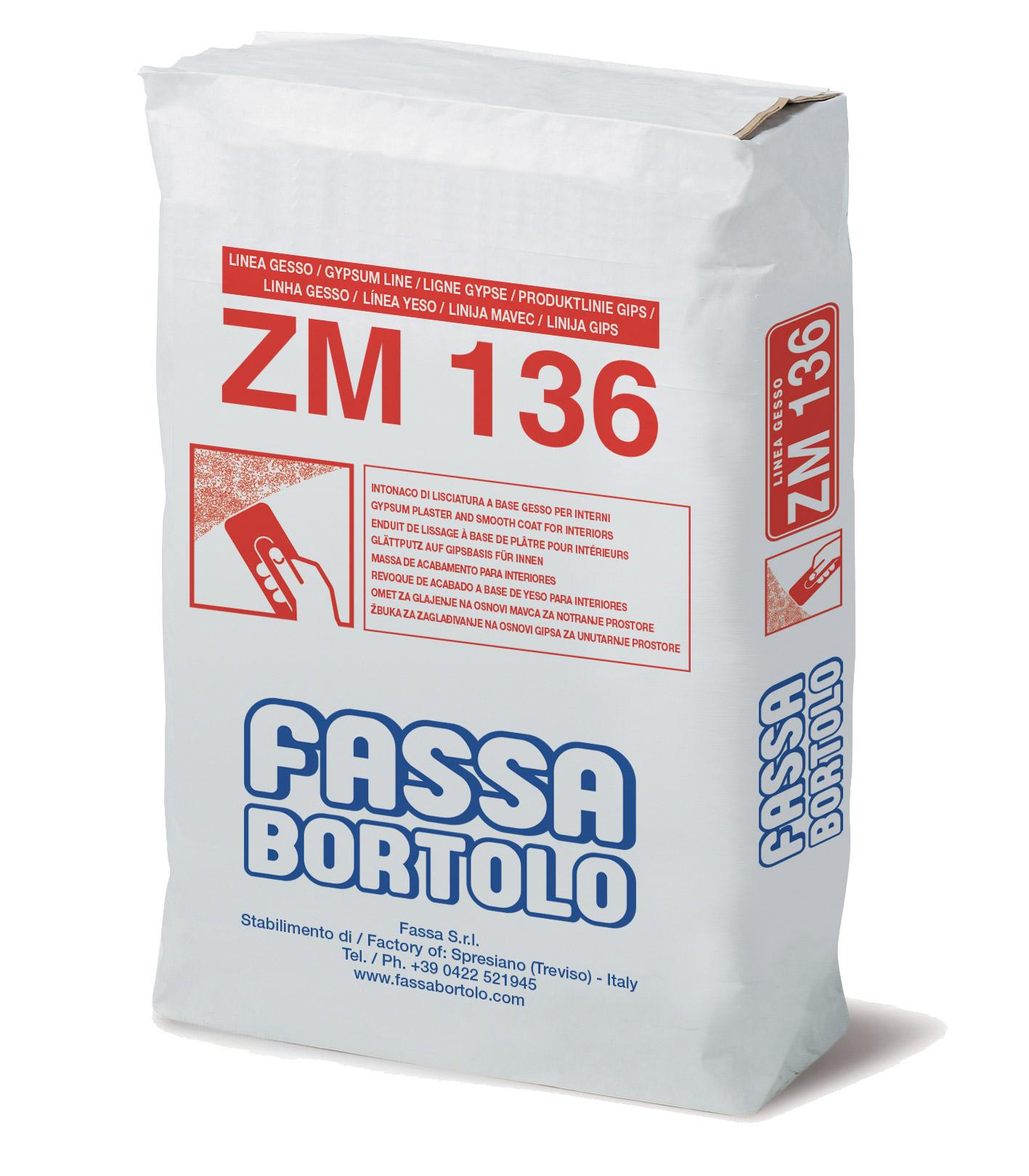 ZM 136: Intonaco e lisciatura a base di gesso per interni