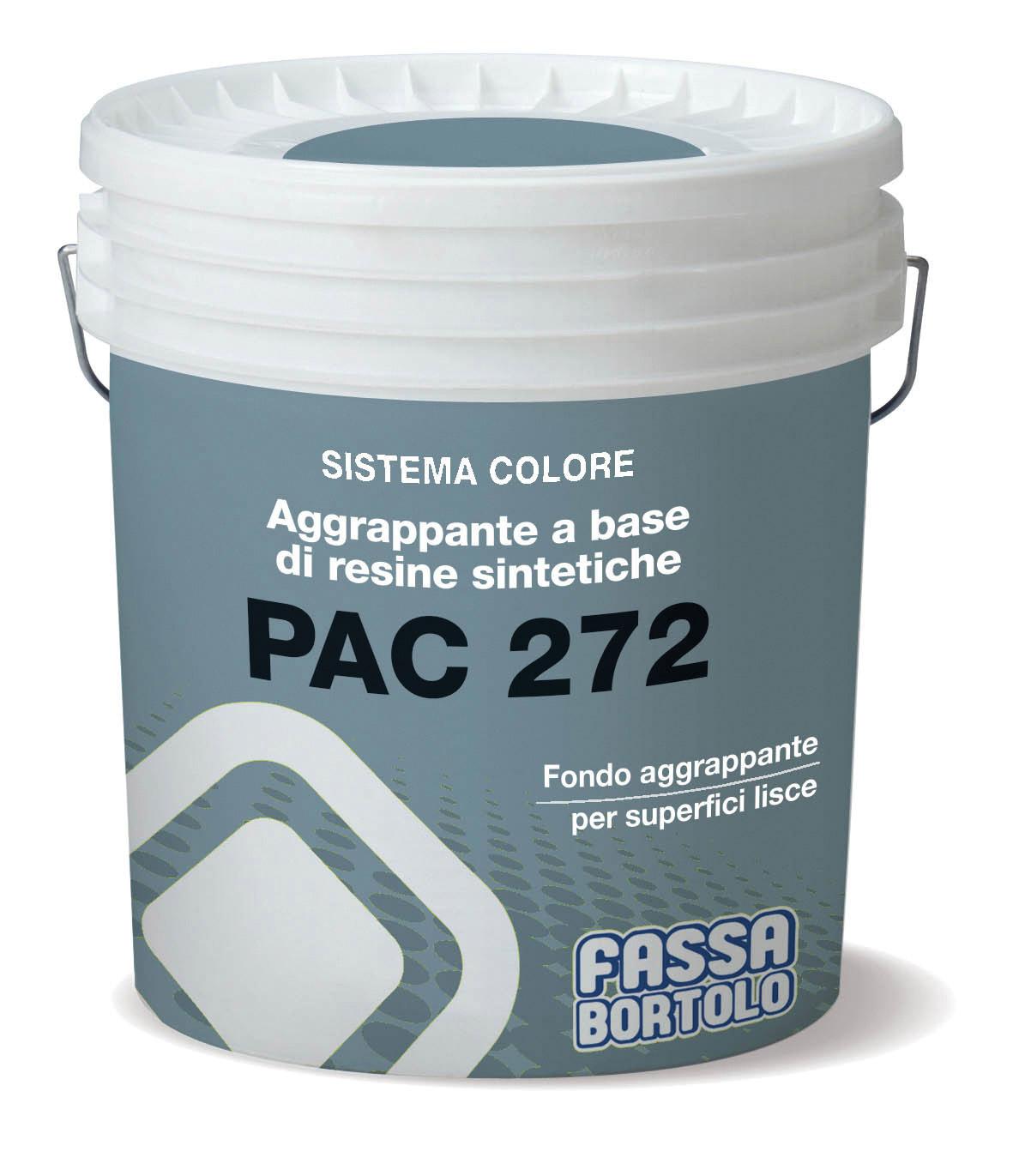 PAC 272: Aggrappante a base di resine sintetiche per intonaci a base di gesso e calce-gesso su calcestruzzo