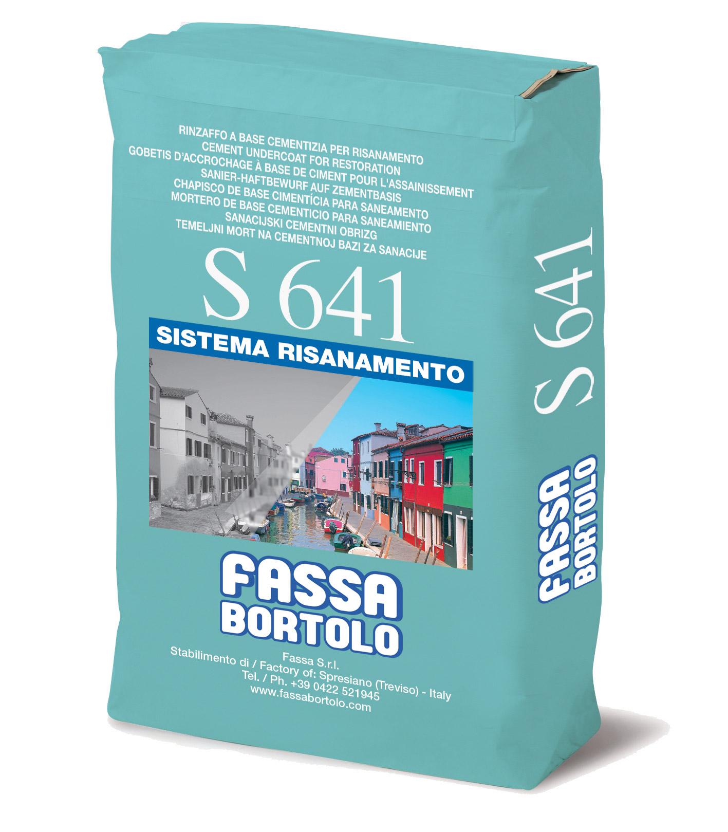 S 641: Rinzaffo per il risanamento di murature umide per interni ed esterni