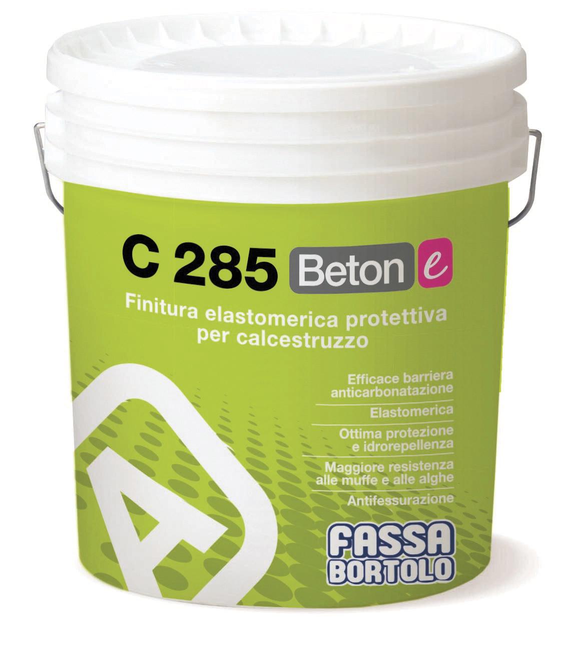 C 285 BETON-E: Finitura elastomerica protettiva per calcestruzzo