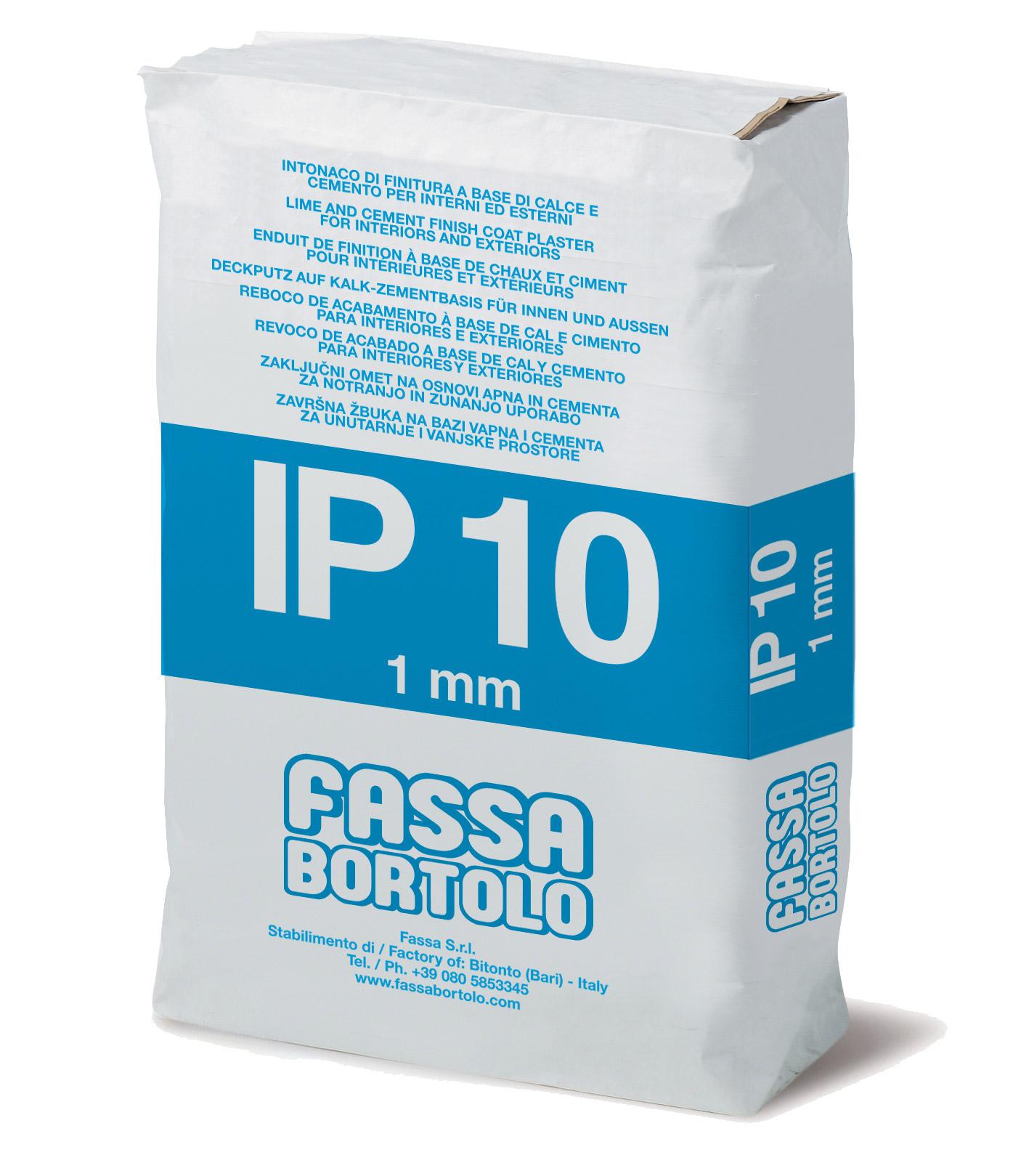 IP 10: Intonaco di finitura a base di calce e cemento per esterni ed interni