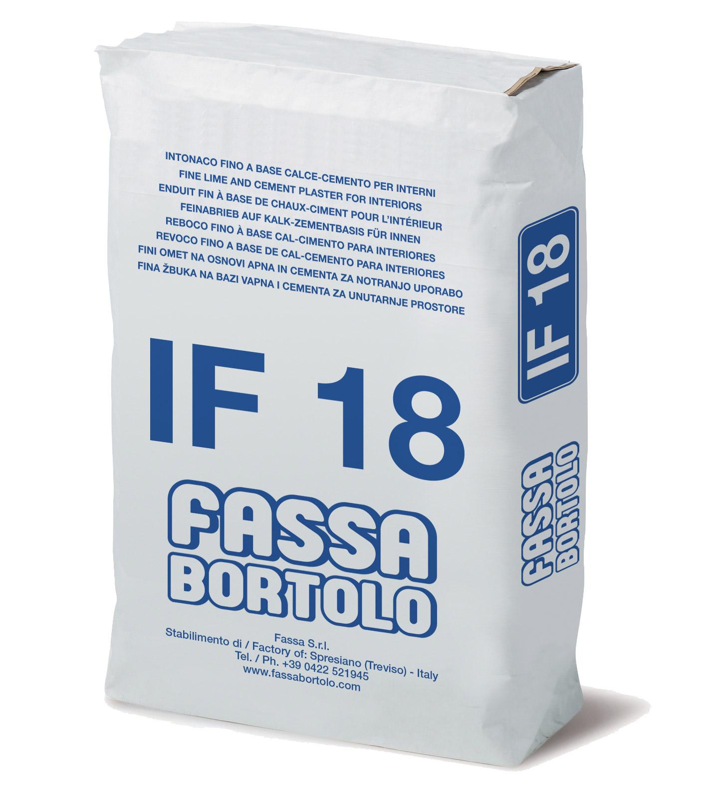 IF 18: Intonaco di finitura a base di calce e cemento bianco per interni