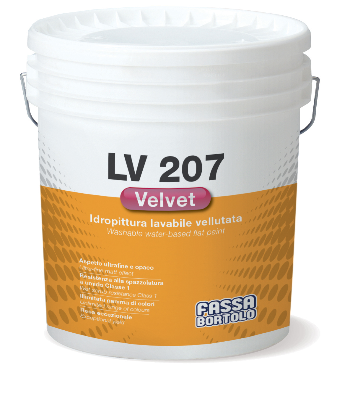 LV 207 VELVET: Idropittura superlavabile vellutata