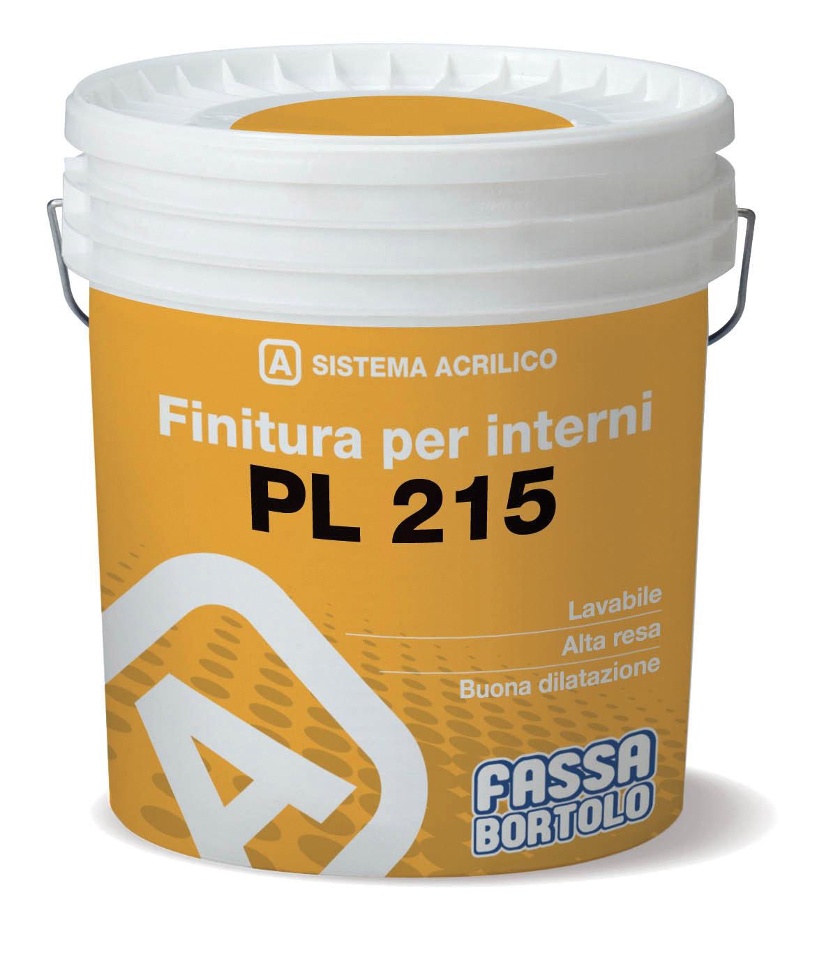PL 215: Idropittura lavabile
