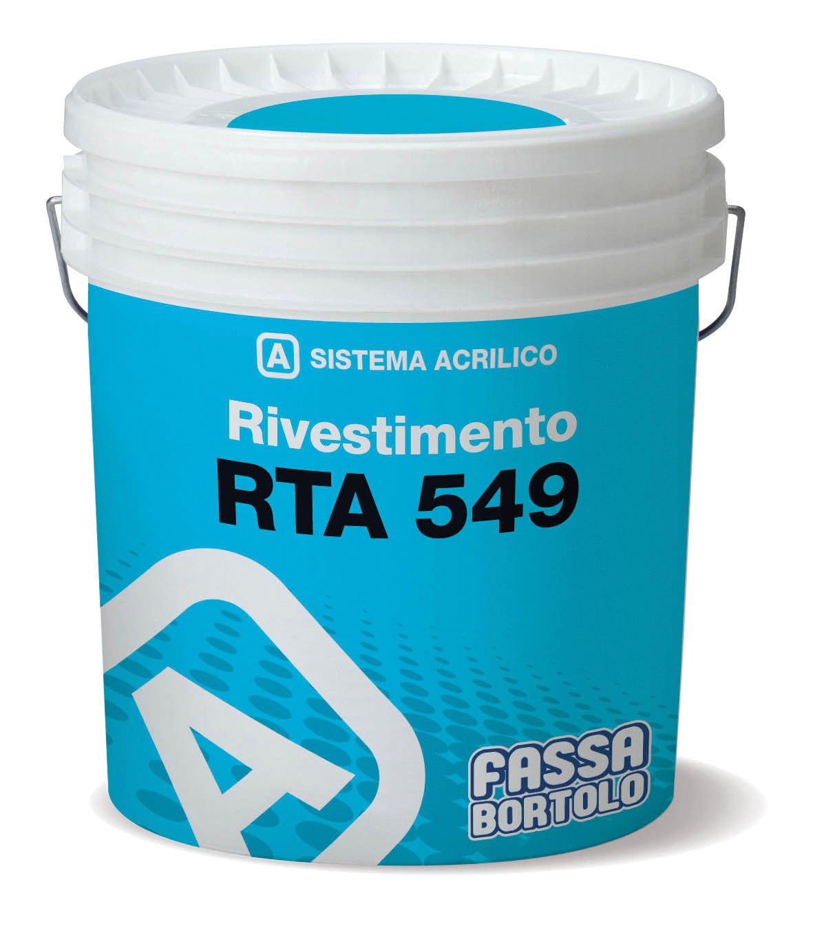 RTA 549: Rivestimento acrilico idoneo per superfici termo coibentate
