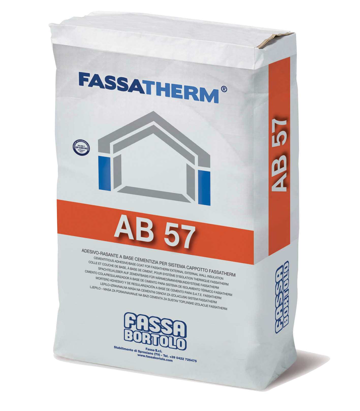 AB 57: Collante a base cementizia bianco per sistema cappotto
