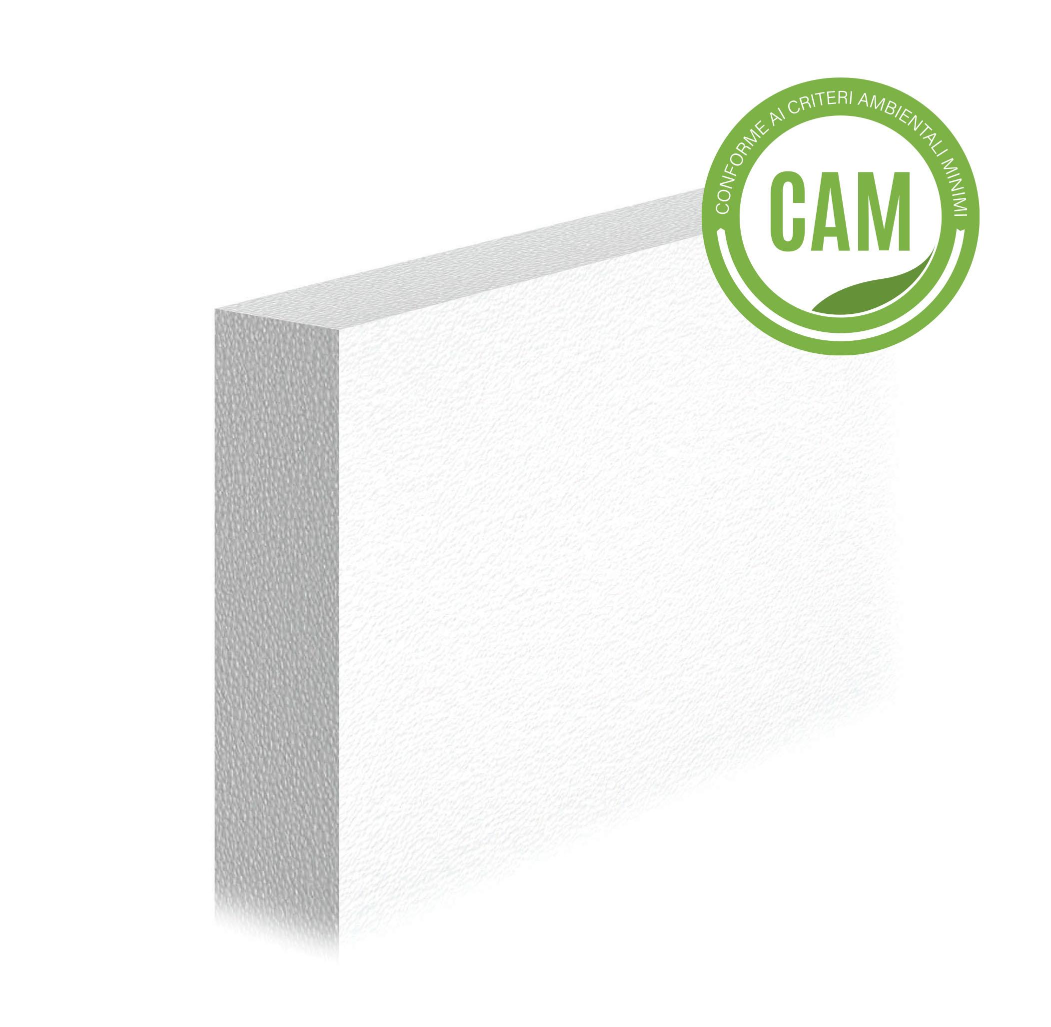 LASTRA ISOLANTE IN EPS 100 - TR 150: Lastra isolante in EPS bianco, tagliata da blocco, con conducibilità termica 0,036 W/(m·K).Conforme ai CAM