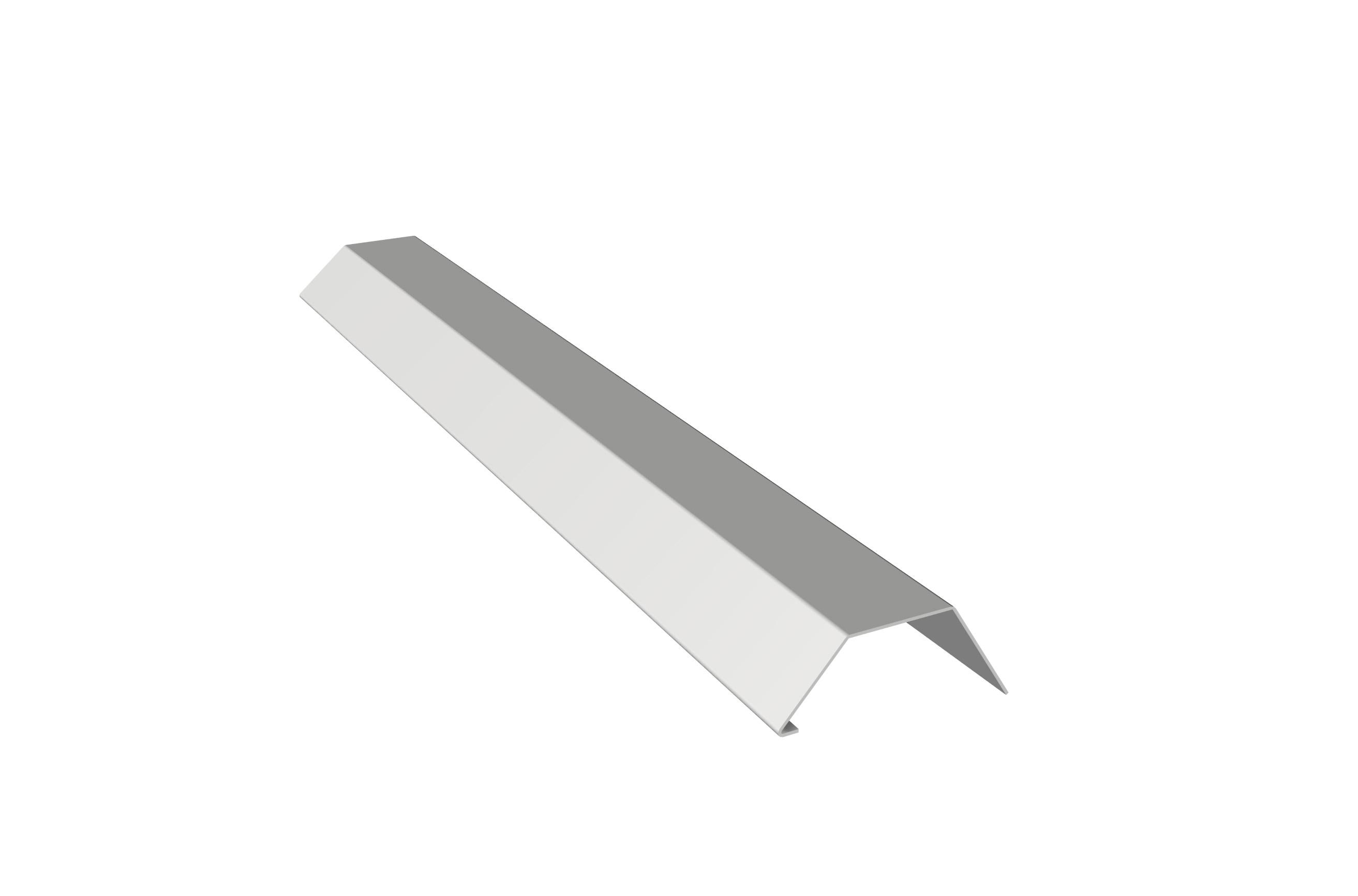 PROFILO DI COPERTURA IN ALLUMINIO: Profilo di copertura in alluminio preverniciato con gocciolatoio
