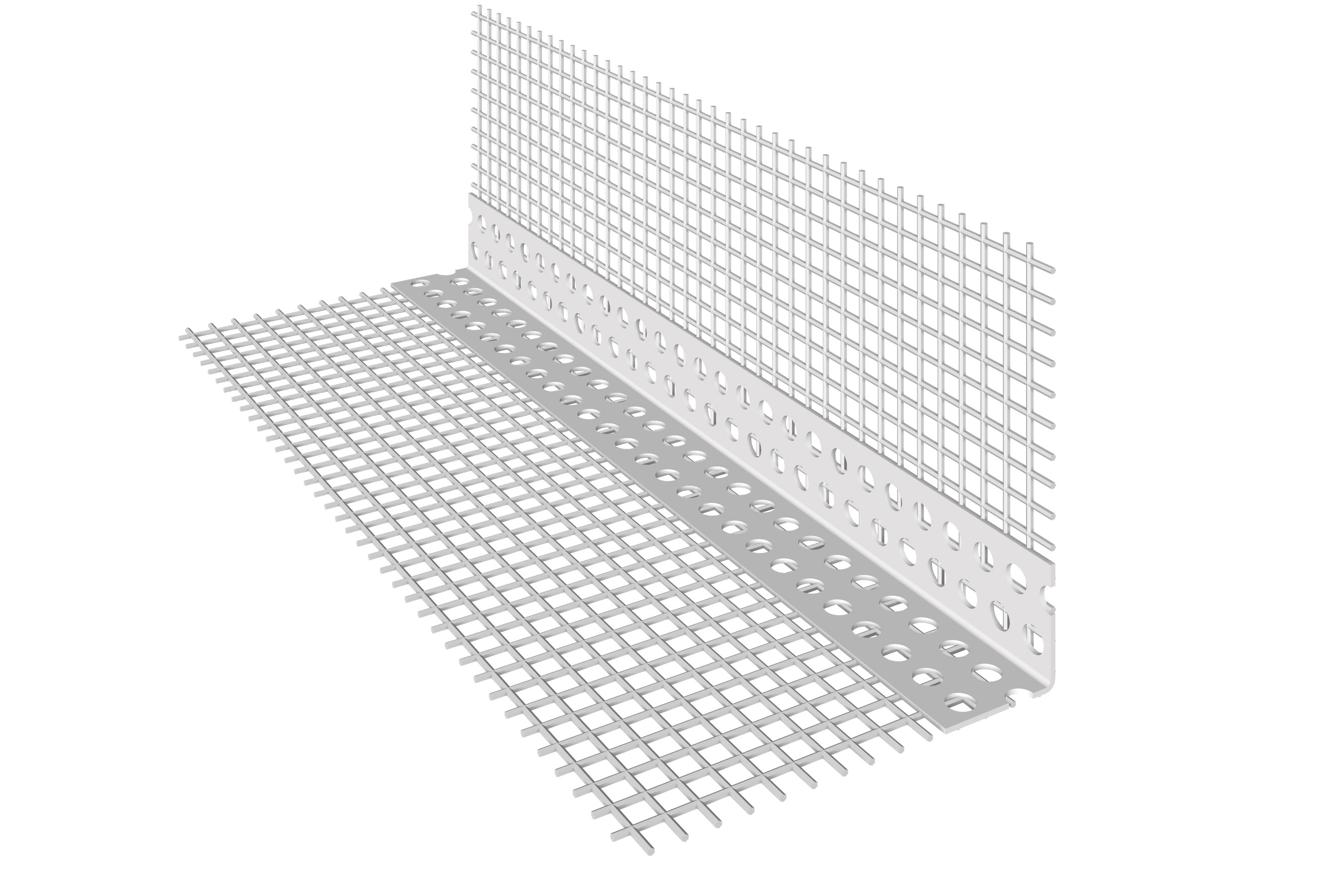 PARASPIGOLO IN PVC: Paraspigolo in PVC con rete in fibra di vetro preincollata