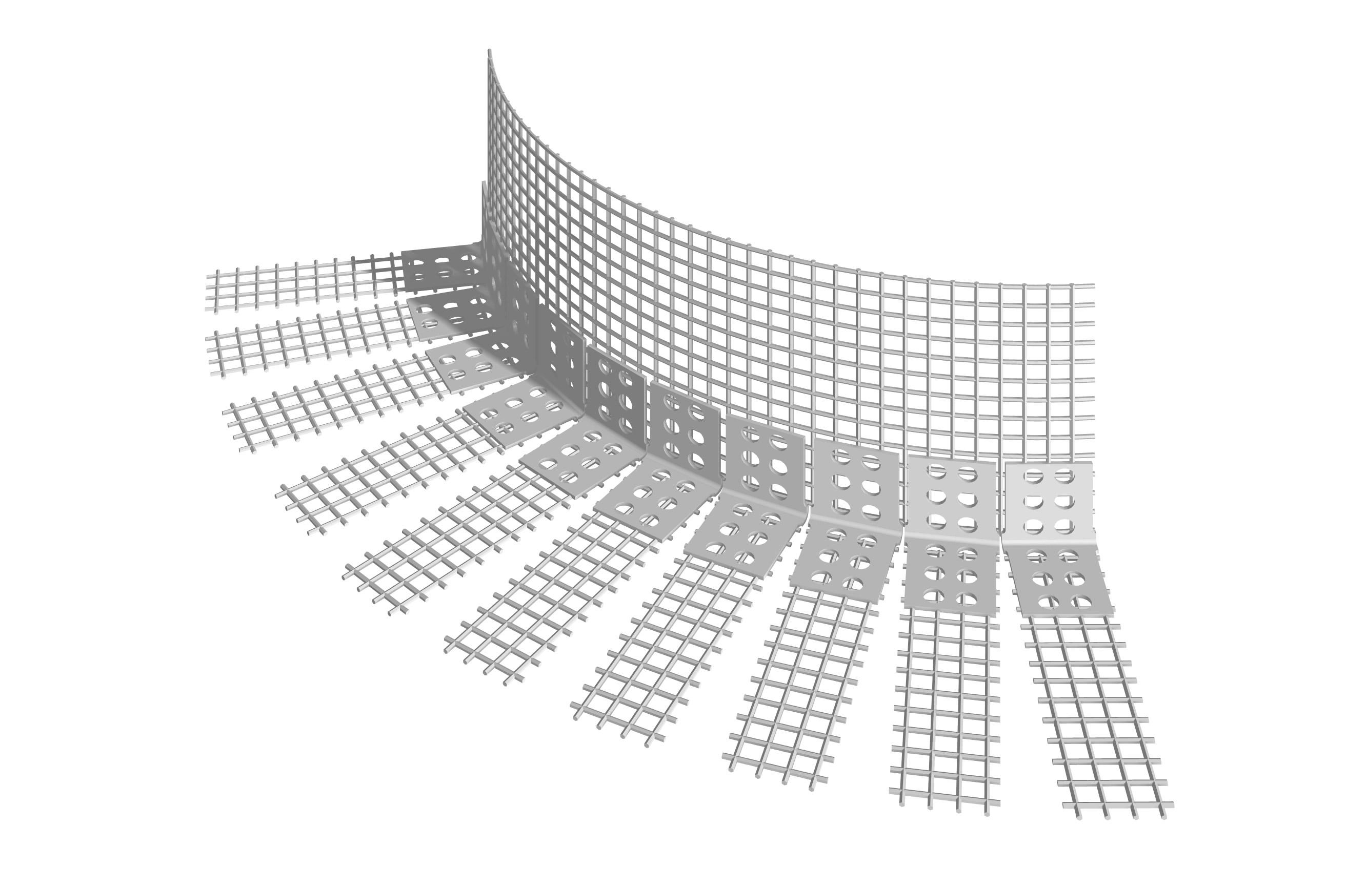 PARASPIGOLO IN PVC PER ARCO: Paraspigolo in PVC con rete in fibra di vetro preincollata per arco