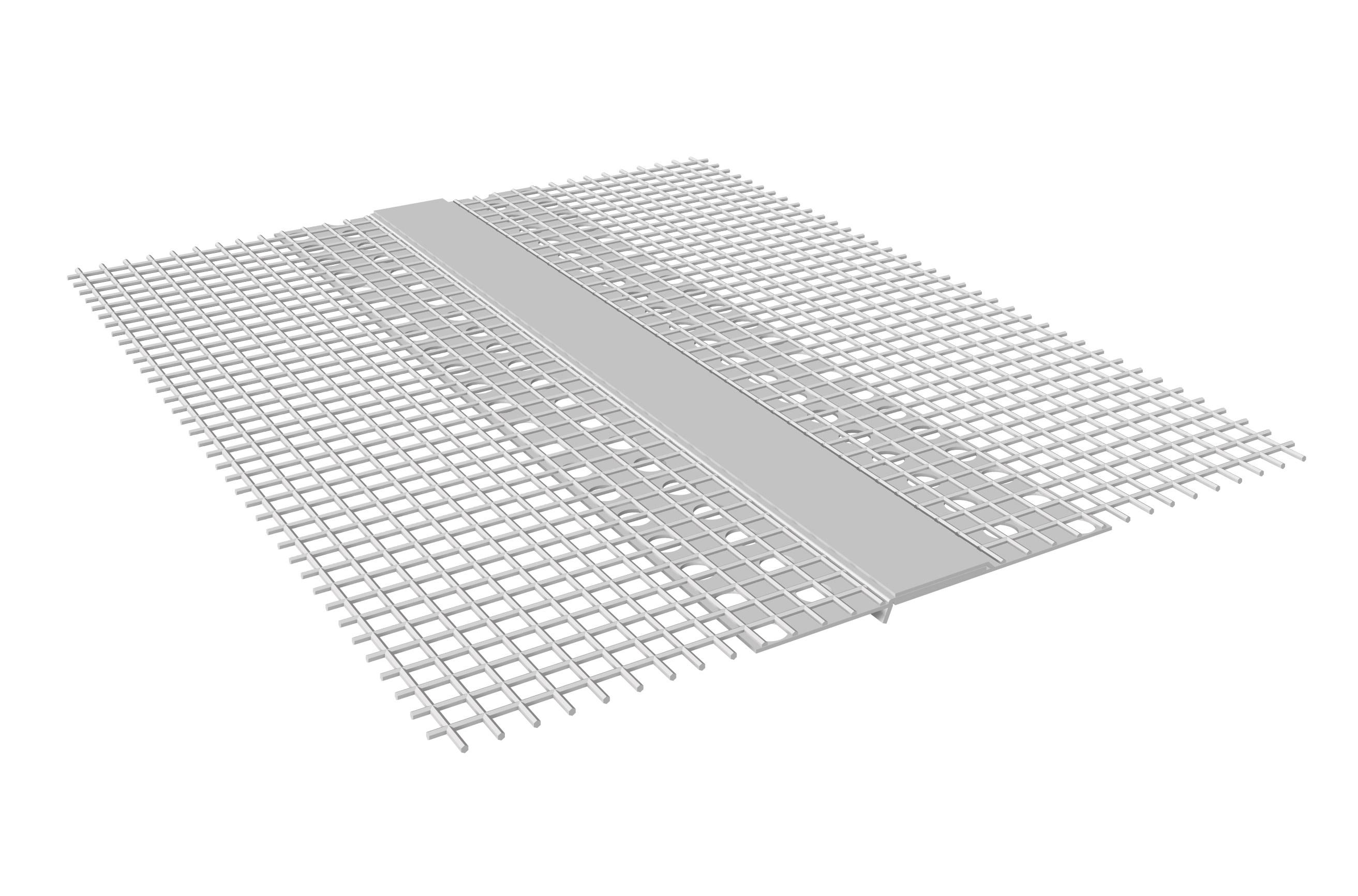 GIUNTO DI DILATAZIONE ORIZZONTALE IN PVC: Giunto di dilatazione in PVC con rete in fibra di vetro preincollata