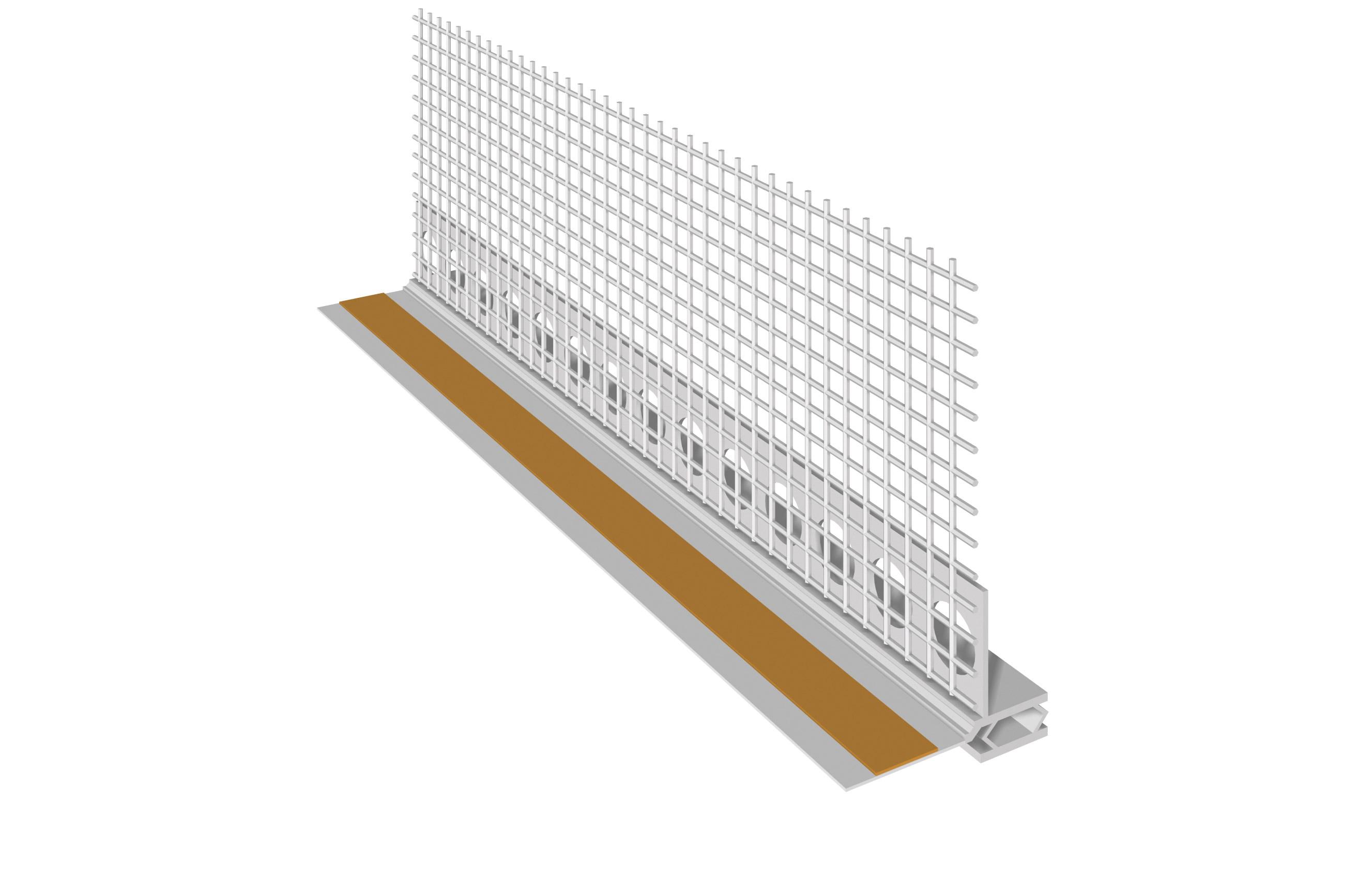 PROFILO IN PVC PER INFISSI CON NASTRO DI GUARNIZIONE: Profili in PVC con rete per infissi con nastro di guarnizione