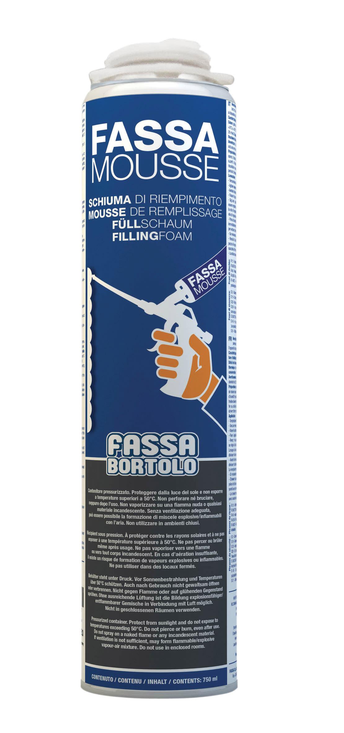FASSA MOUSSE: Schiuma per la sigillatura dei giunti (0-4 mm) tra le lastre di isolamento termico