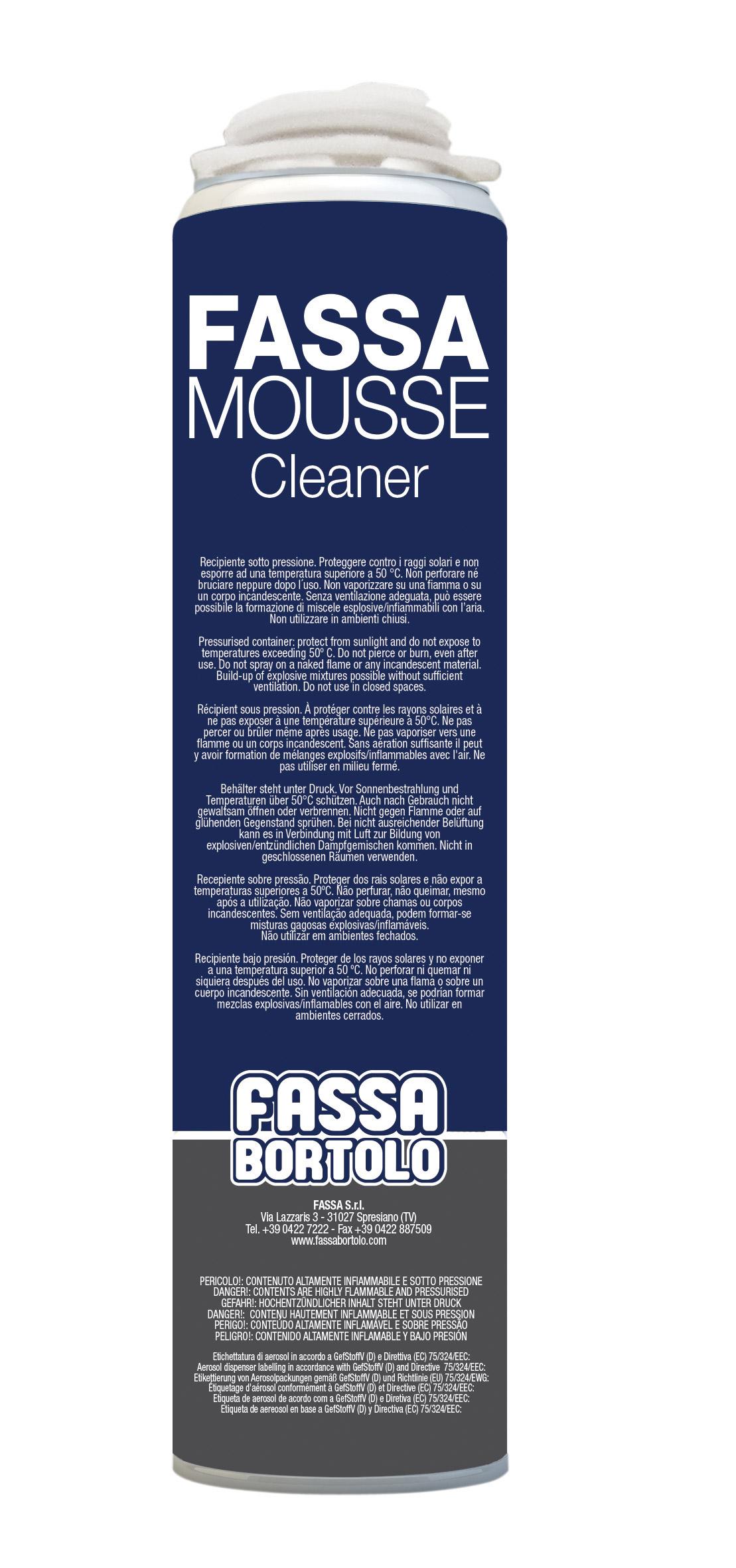 FASSA MOUSSE CLEANER: Detergente per pistola FASSA MOUSSE
