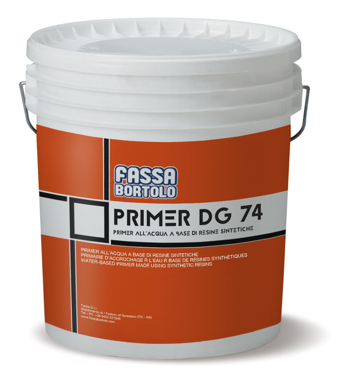 PRIMER DG 74: Primer all'acqua a base di resine sintetiche