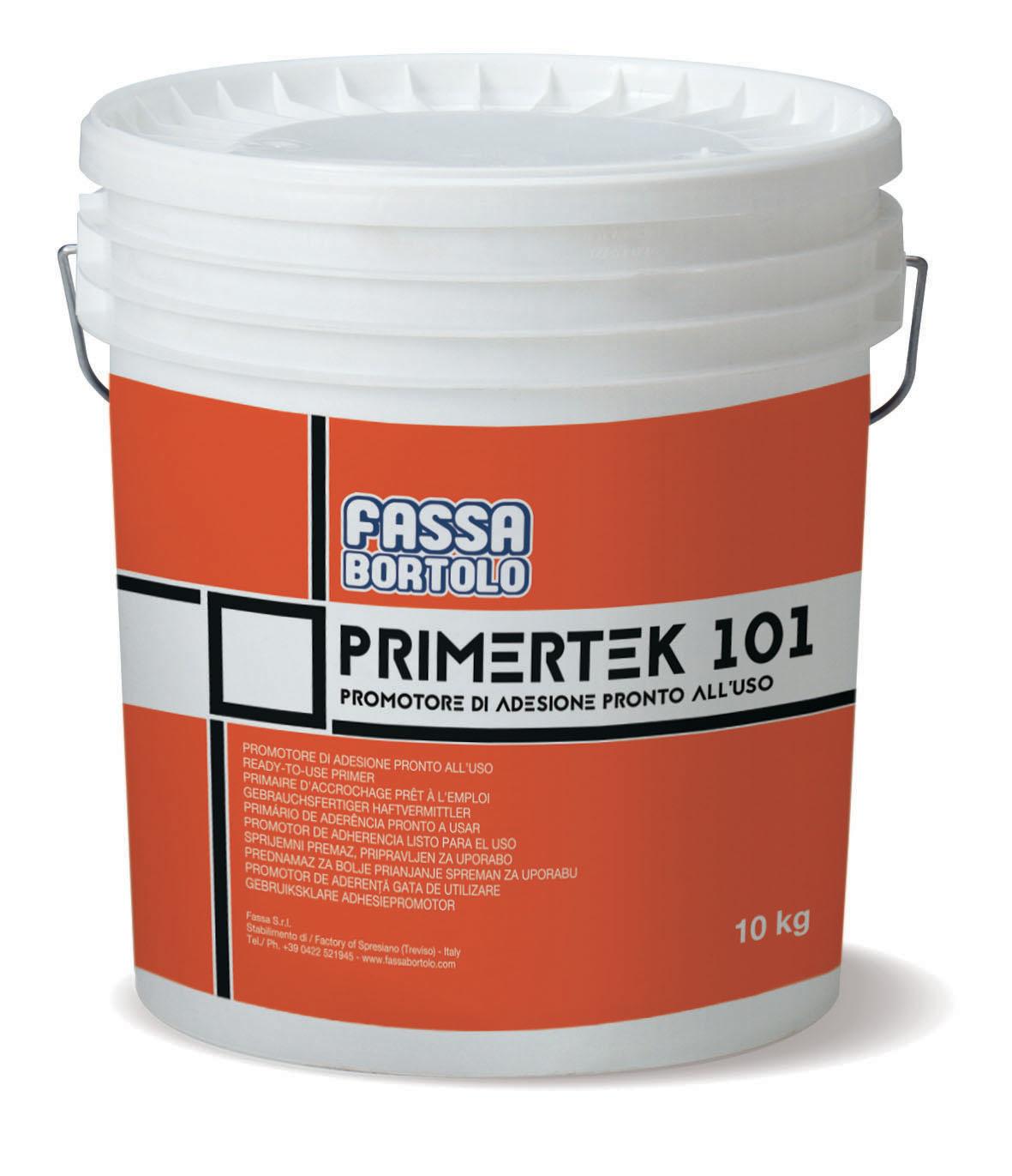 PRIMERTEK 101: Promotore di adesione monocomponente a base di resine acriliche, di facile applicazione e pronto all'uso