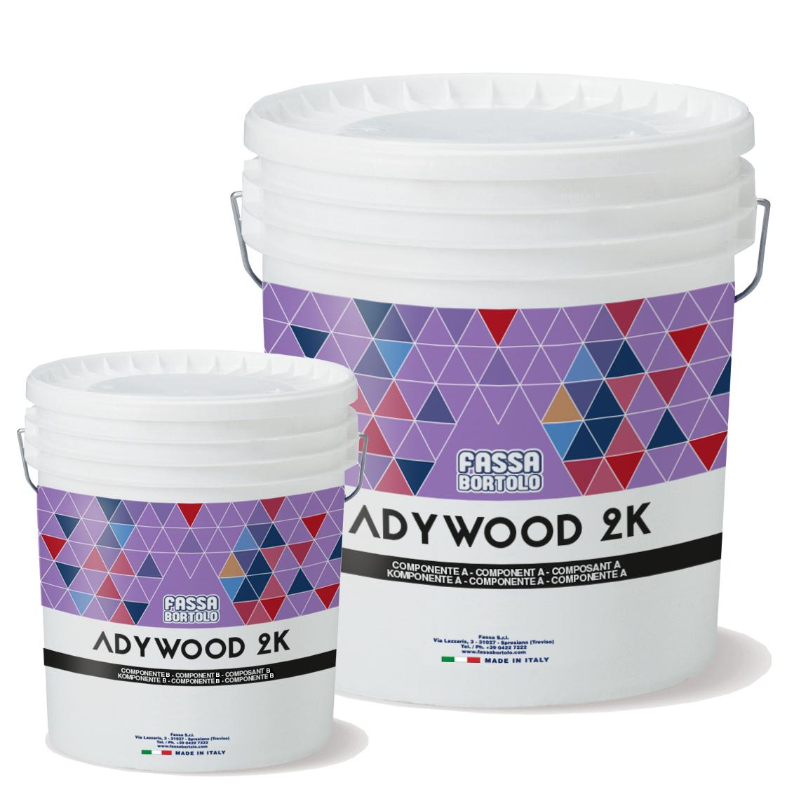 ADYWOOD 2K: Adesivo bicomponente epossipoliuretanico per l'incollaggio di pavimenti di legno
