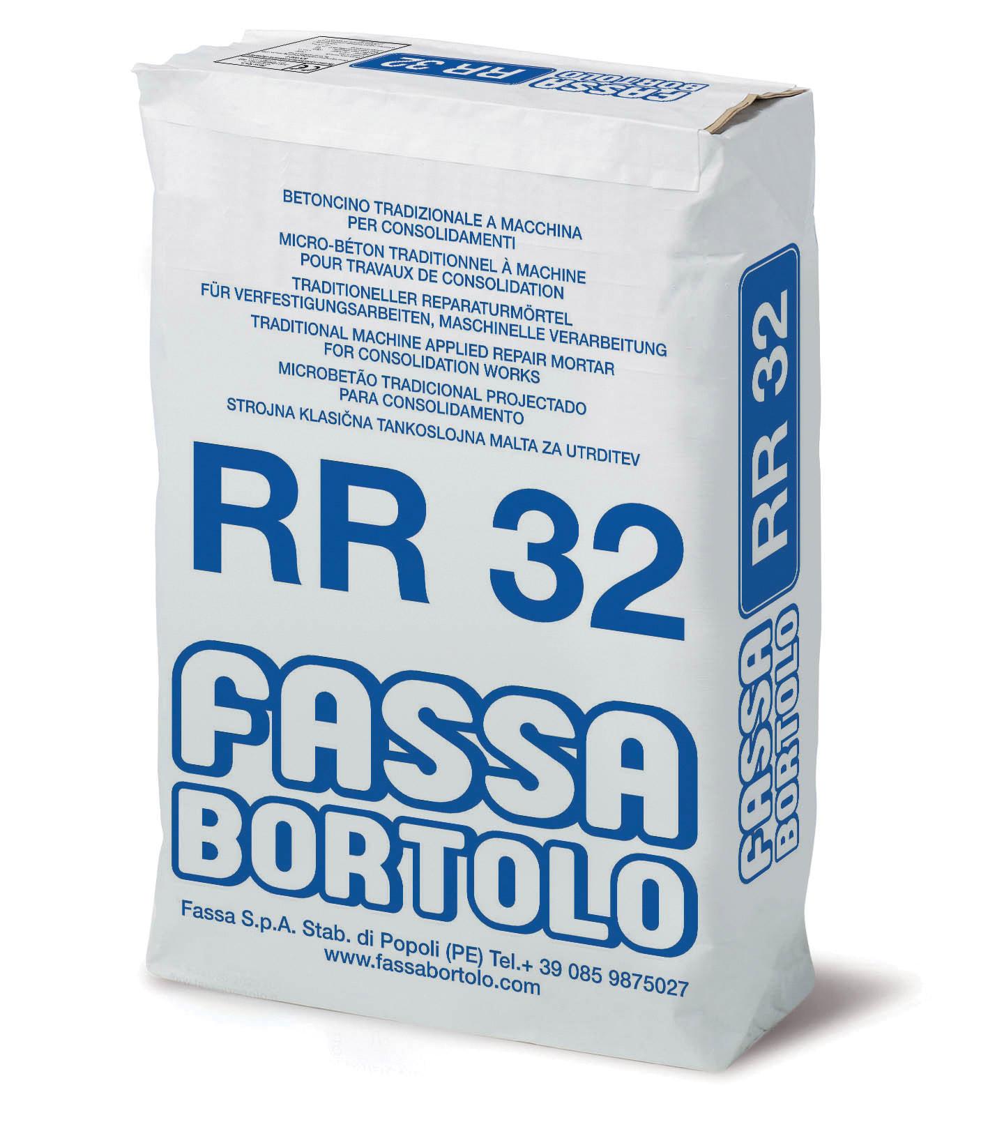 RR 32: Malta cementizia per il consolidamento di versanti e per l'intonacatura di murature e di pannelli in polistirolo armati