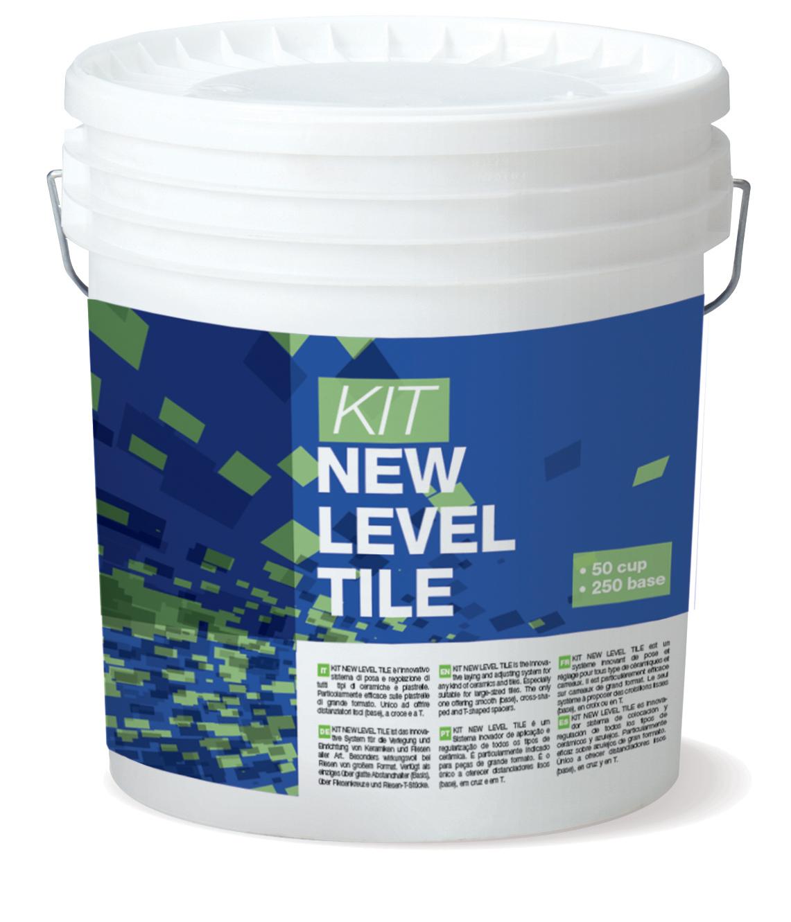 KIT NEW LEVEL TILE: Kit per la regolazione di piastrelle composto da 50 Cup e 250 Base